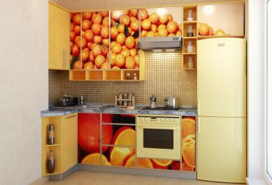 """Кухня """"Апельсиновый рай"""""""